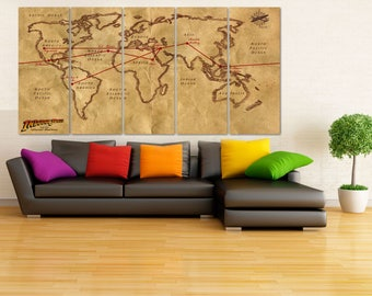 Framed push pin map etsy uk indiana jones canvas print indiana jones poster indiana jones print framed push pin map world map canvas art old world map canvas lc068 gumiabroncs Image collections