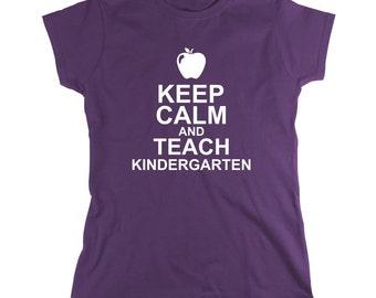 Keep Calm And Teach Kindergarten Shirt - Teacher Gift Idea, educator, Christmas, teacher assistant - ID: 481