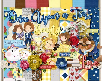 Tale As Old As Time Beauty and the Beast Digital Scrapbook Kit