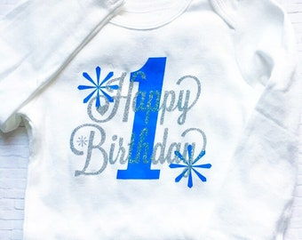 Baby's First Birthday Longsleeve Bodysuit~ Size 6-12 Months