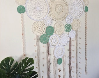 Crochet Dream Catcher Wall Hanging // Large