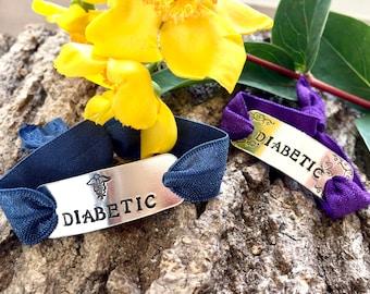 Medical Alert Bracelet, Medical Bracelet, Diabetic, Fibro, Epilepsy, Medical ID, Medical Bracelet, Emergency Bracelet, Handstamped