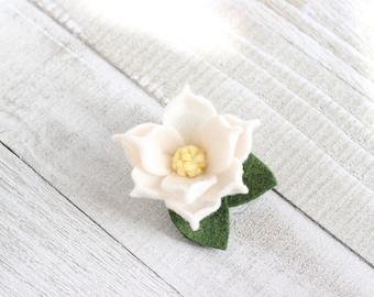 Felt Magnolia Petit Clip, Magnolia Alligator Clip, Magnolia Headband, Flower Crown, Magnolia Crown, Magnolia Hair Clip, Magnolia Flower Clip
