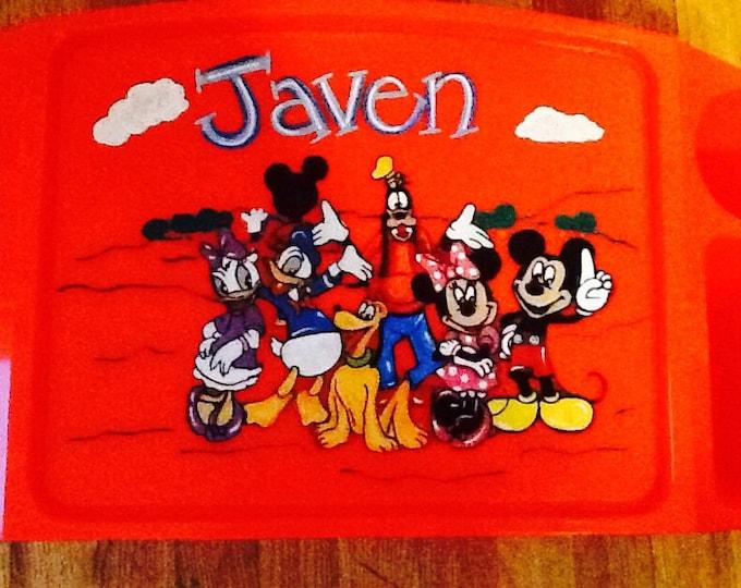 Mickey Mouse club tray, Mickey Mouse tray, Minnie Mouse tray, disney tray, kids lap tray, kids tv tray, kids art tray, kids game tray