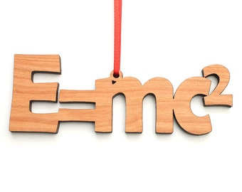 E = mc2 Ornament - Theory of Special Relativity by Albert Einstein Physics Ornament - Science Teacher Gift for Physics or Chemistry