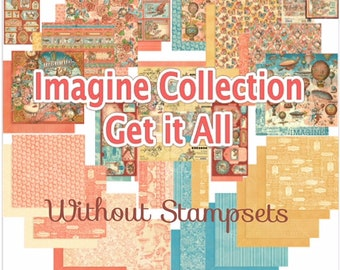 PREORDER Graphic 45 Imagine Get It All Bundle w/out Stampsets-Ships Free