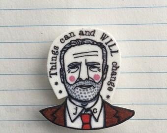 Jeremy Corbyn badge