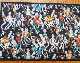 Quilted Table Mat, Zombie High