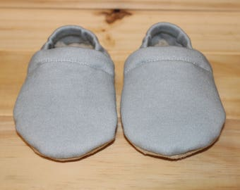 Baby blue baby moccasins
