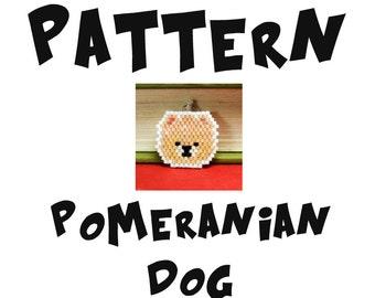 Pomeranian Dog Seed Bead PATTERN, Brick Stitch   DIGITAL DOWNLOAD