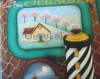 "Folk Art Decorative book ""Down East Seasons""  Geri Tilley 38 pages 1999 used book"
