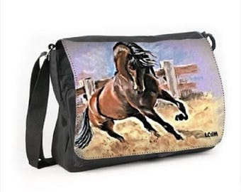 Satchel horse pattern