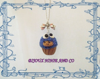 necklace cupcake monster cookies fimo