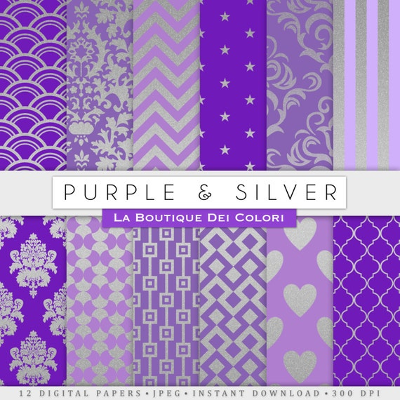 purple silver background