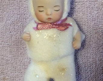 Porcelain Doll Christmas Ornament