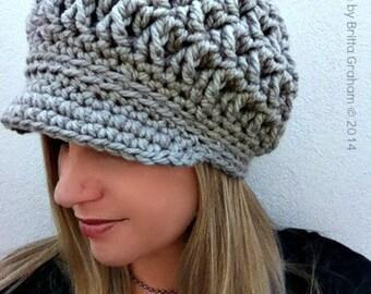 Newsboy Crochet Hat Pattern for Super Bulky yarn - The Chunksta - Crochet Pattern No.220 Digital Download English