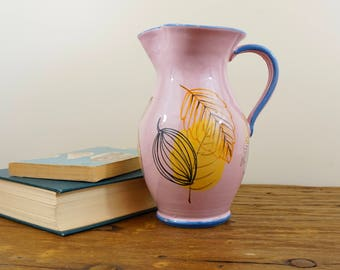 Hand-painted Pink Leaf Pitcher