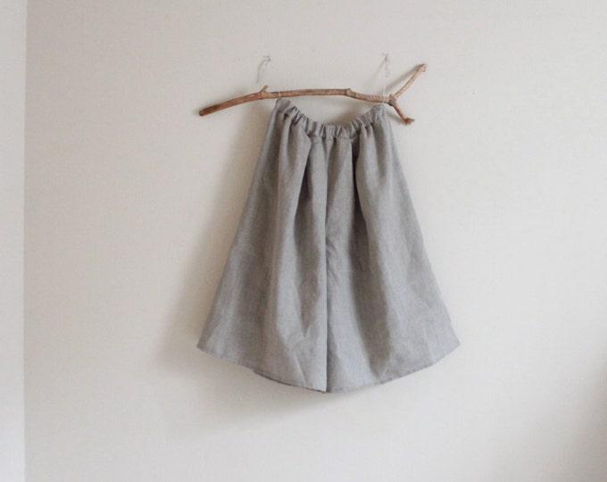 custom linen soft pleats wide leg gaucho pants / linen gaucho / low crotch gaucho / natural linen gaucho / super roomy gaucho / wide leg