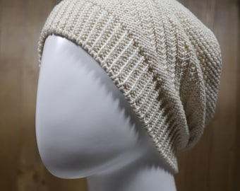 Slouchy hat (cotton). Cotton beret.