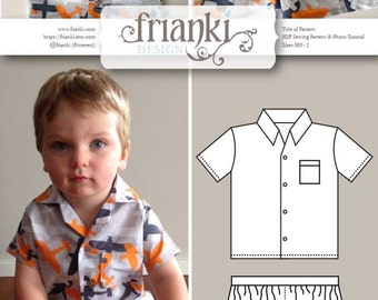 Girls or Boys Baby Pyjamas - PDF Sewing Pattern and Photo Tutorial - Sizes 000 to 2 - Instant Download - Baby Toddler Child Kids Easy Sew