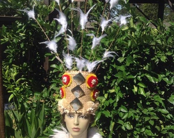 Tahitian & Cook Islands Lauhala And Hau Headpiece. Perfect For Children And Adult.