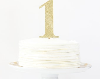 Gold Glitter Number Cake Topper Girls First Birthday Party Decorations Age Cake Topper Gold Glitter Party Supplies 1st Birthday Smash Cake