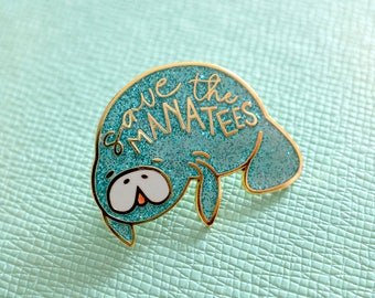 Save the Manatees - enamel pin