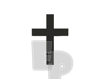 Solid Cross Christian Spiritual Religious Sacred Symbol Machine Embroidery Pattern Design