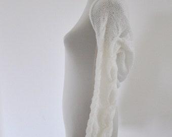 Shrug Bolero Bridal Shrug Long Sleeved White Bridal Accessories Elegant Wedding