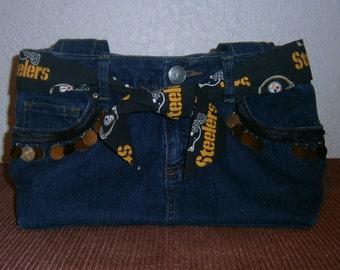 Steelers  Blue Jean Pocketbook/Purse