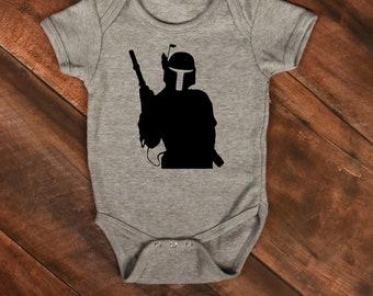 Boba Fett--Boba Fett baby bodysuit--Disney bodysuit--Boba Fett baby shirt