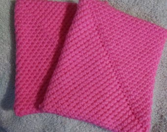 Set of 2 hand crocheted potholders hot pads