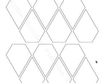 Jewel Shape PDF files in 12 sizes