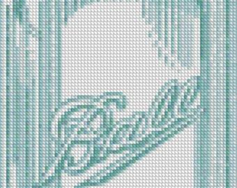 Mason Jar Cross Stitch  PDF Pattern