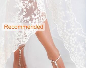 White Beaded barefoot sandals, Feet jewelry, Beach wedding Barefoot Sandals, Feet Thongs, Footless sandals, Ankle Bracelet, Bridesmaid, Boho
