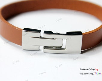 10mmx3mm Hole Stainless Steel Clasp For Flat Leather MT661