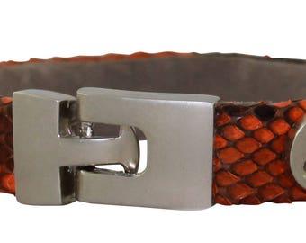Python Bracelet, Python Cuff, BAJ 496 S Orange