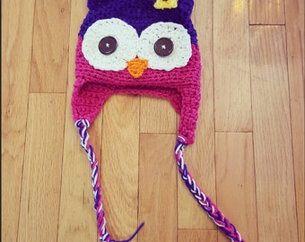 Crochet owl hat | Baby owl hat | Child owl hat | Adorable owl hat