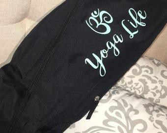 Yoga Life, Yoga Mat Bag, Yoga, Yoga Mat Carrier, Yoga Sling, Black Mat Bag, Mat Bag, Yoga Mat Bag, Yoga Bag, Yoga Carrier, Exercise Bag,