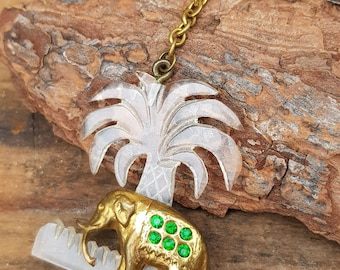 Vintage Brooch Pin Lucite Palm Tree Elephant Jewellery Retro Novelty 40s 50s RC Lucite Brooch Elephant Jewelry 1950s Jewelry Genuine Vintage