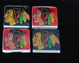 Blackhawks Coasters