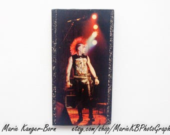 1980s Punk Rock Band The Exploited - Photo Transfer To Wood - Decorative Wall Art