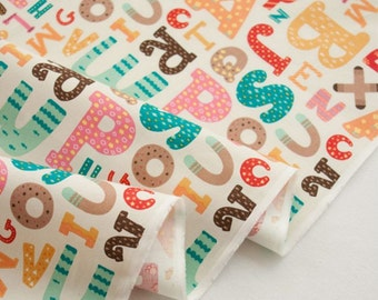 Alphabet Fabric made in Korea by Half Yard
