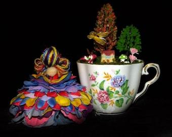 Faerie Clare and her Teacup Nursery, Fairy, OOAK