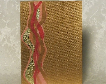 Original Handmade  Waves of Inspiration  Art Card
