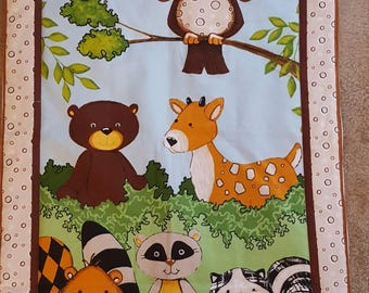 Forest friends preschool nap blanket