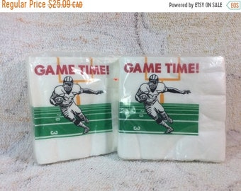 CLEARANCE 2 Packs of Vintage Football Party Napkins Game Time Super Bowl Man Cave