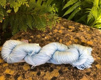 "100grms hand painted merino/silk yarn "" pale skys """