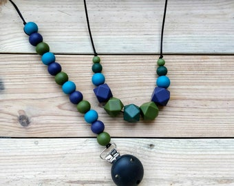 BPA free silicone necklace, nursing/teething necklace, pacifier clip, dummy chain, gift for mum