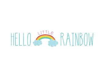 Hello Little Rainbow — Wall Art